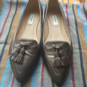 L.K. Bennett Dixie Pointed Toe Loafers, EU 37